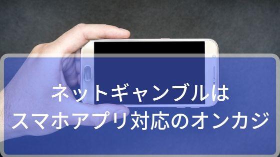 ネットギャンブルはスマホアプリ対応のオンカジで始められる!
